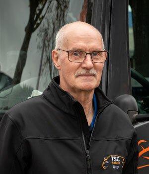 Chauffeur Peter de Wijze