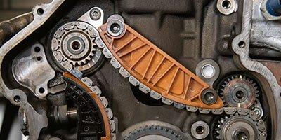 Opgerekte distributieketting THP motor Peugeot