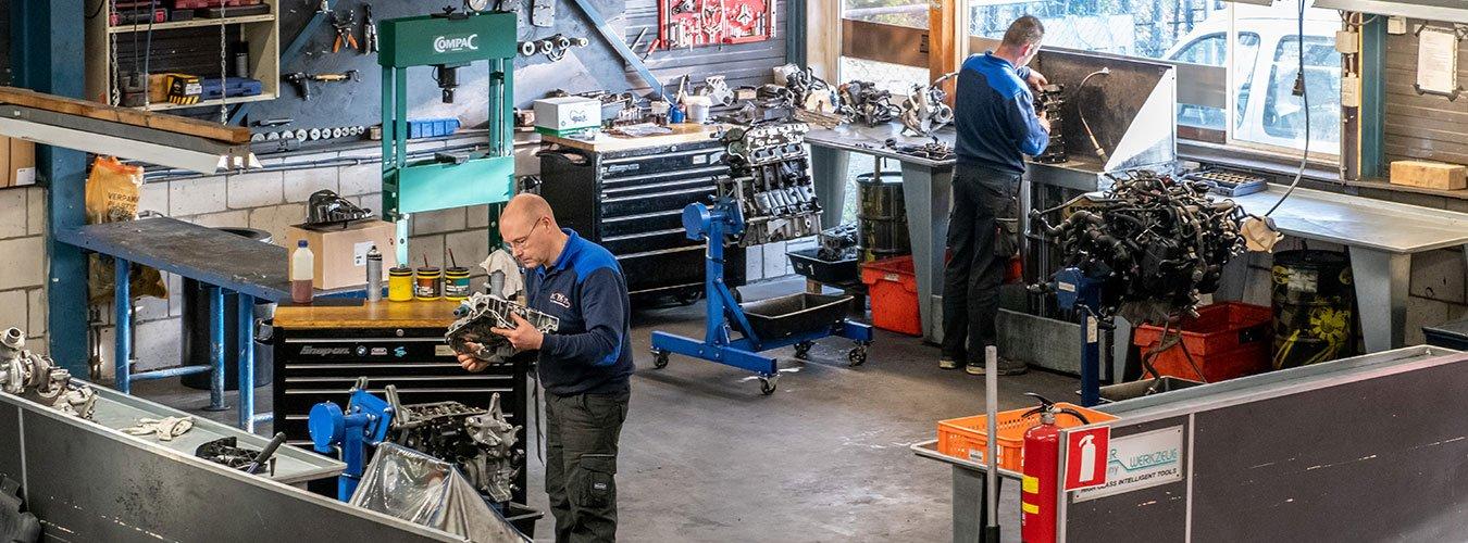 Werkplaats motoren reparatie TSC de Betuwe
