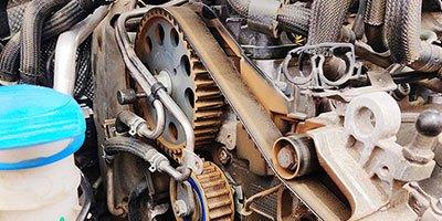 Versleten distributieriem DS PSA PureTech motor